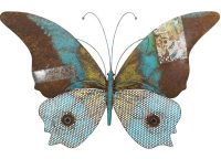 Blue Butterfly Rustic Wall Decor