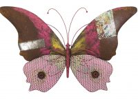 Pink Butterfly Rustic Wall Decor