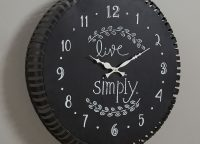 Live Simply Chalkboard Clock