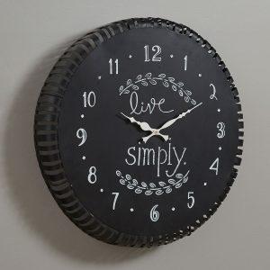 Live Simply Chalkboard Clock