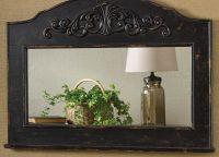 Blackwash Distressed Rustic Mirror