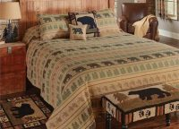 Bear Tracks Queen Bedspread Set
