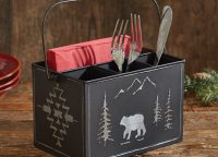Black Bear Utensil Caddy