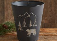 Black Bear Waste Basket