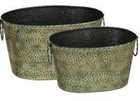 Green Star Petal Oval Bucket Set