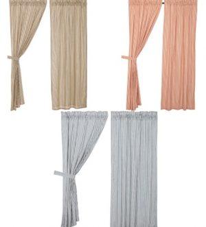 Sawyer Mill Ticking Stripe Panel Curtain Set