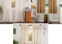 Simple Life Ruffled Panel Curtain Sets