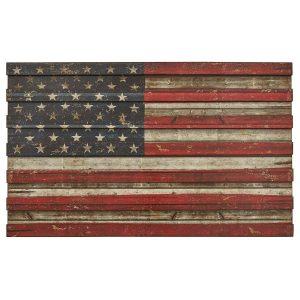 American Flag Wood Wall Art Plain