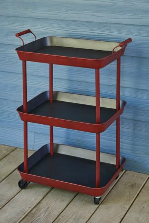 Red Utility Serving Cart