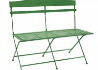 Garden Green Slotted Iron Bench