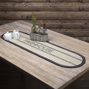 Charcoal Farmhouse Table Runners