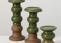 Duo Hue Pine Green Candleholder Set