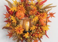 Pumpkin Berry Fall Leaf Convertible Wreath