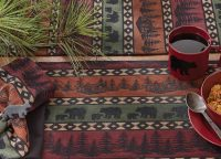 Mountain Bear Table Runner