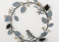 Artic Sky Metal Holly Wreath