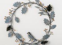 Artic Sky Metal Holly Wreath