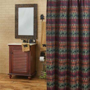 Mountain Bear Shower Curtain