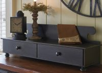 Distressed Black Counter Shelf